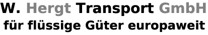 Text: Hergt Transport GmbH